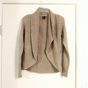 H&M Open Front Tan Knit Cardigan